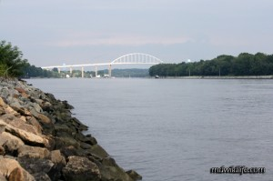 View of Chesapeake City bridge